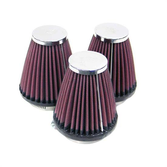 K&N RC-1253 Performance Air Filters, 4in Tall, Round Tapered