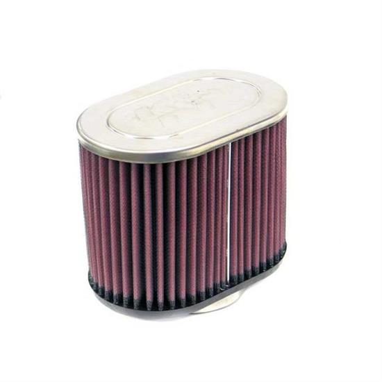 K&N RC-1500 Performance Air Filters, 5in Tall, Oval