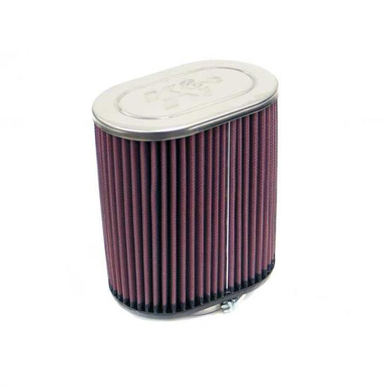 K&N RC-1520 Performance Air Filters, 7in Tall, Oval