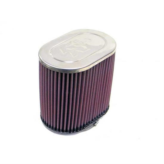 K&N RC-1540 Performance Air Filters, 6in Tall, Oval