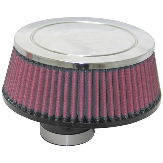 K&N RC-1649 Performance Air Filters, 2.563in Tall, Round Tapered
