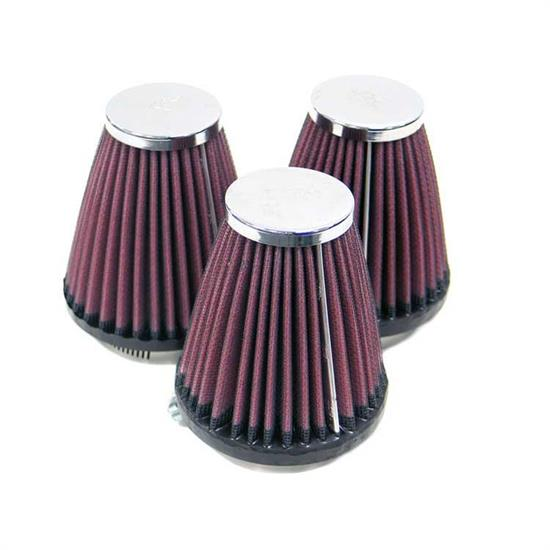K&N RC-1923 Performance Air Filters, 4in Tall, Round Tapered