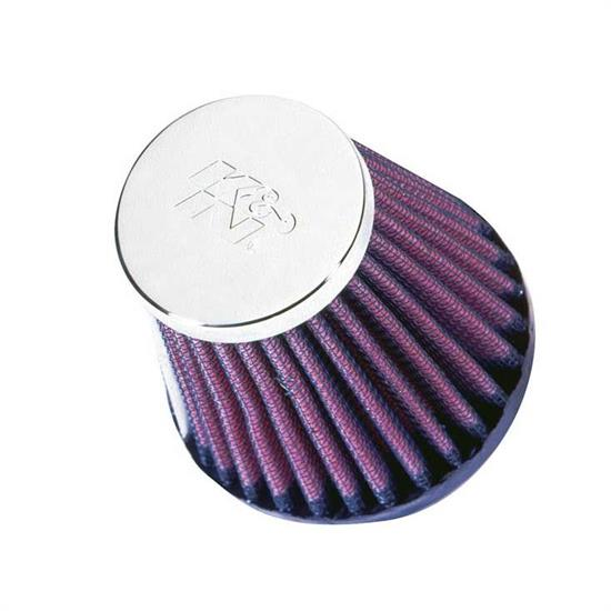 K&N RC-2580 Performance Air Filters, 3in Tall, Round Tapered
