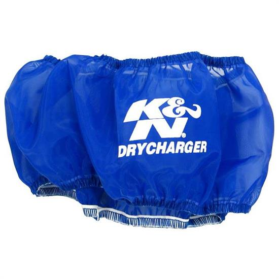 K&N RC-3028DL DryCharger Air Filter Wrap, 1.5in Tall, Blue
