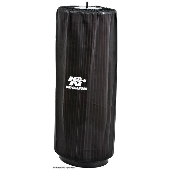K&N RC-3070DK DryCharger Air Filter Wrap, 18in Tall, Black