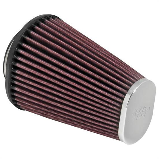 K&N RC-3680 Performance Air Filters, 6in Tall, Oval Straight