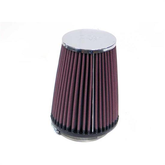 K&N RC-4540 Performance Air Filters, 6in Tall, Round Tapered