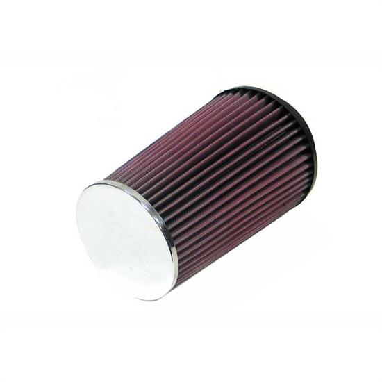 K&N RC-4580 Performance Air Filters, 8in Tall, Round Tapered