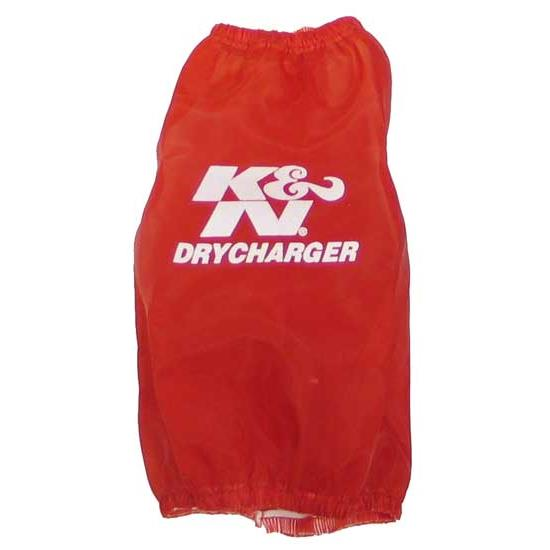 K&N RC-4630DR DryCharger Air Filter Wrap, 6.5in Tall, Red