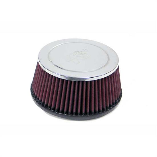 K&N RC-4640 Performance Air Filters, 3.125in Tall, Round Tapered