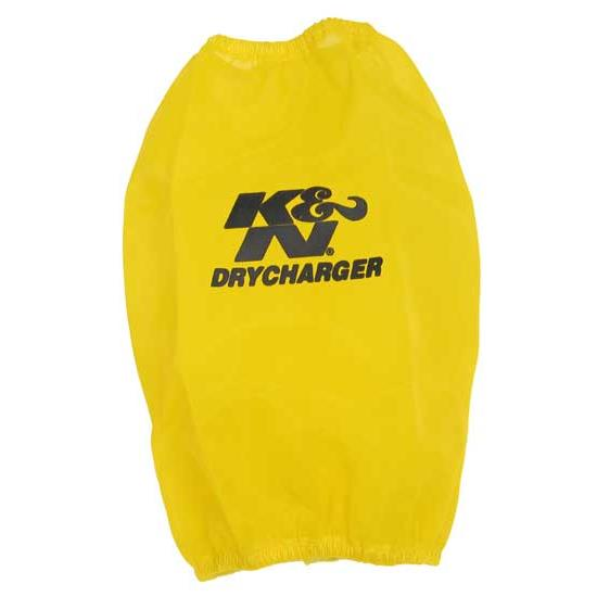 K&N RC-4690DY DryCharger Air Filter Wrap, 7.875in Tall, Yellow