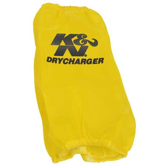 K&N RC-4700DY DryCharger Air Filter Wrap, 6.75in Tall, Yellow