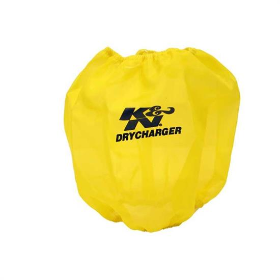 K&N RC-4900DY DryCharger Air Filter Wrap, 7.875in Tall, Yellow
