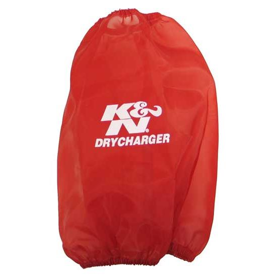 K&N RC-5046DR DryCharger Air Filter Wrap, 9in Tall, Red