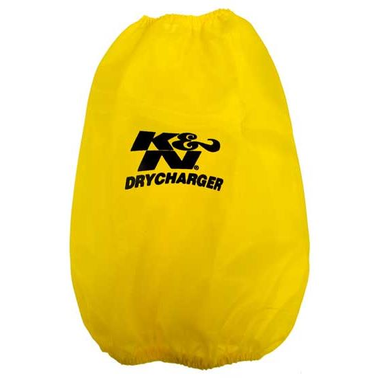 K&N RC-5046DY DryCharger Air Filter Wrap, 9in Tall, Yellow