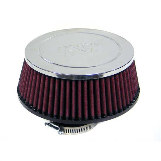K&N RC-5048 Performance Air Filters, 2.563in Tall, Round Tapered