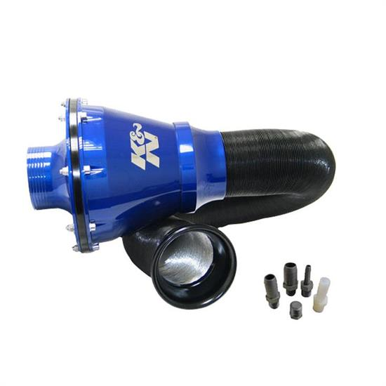 K&N RC-5052AL Apollo Universal Cold Air Intake Kit, Blue Case