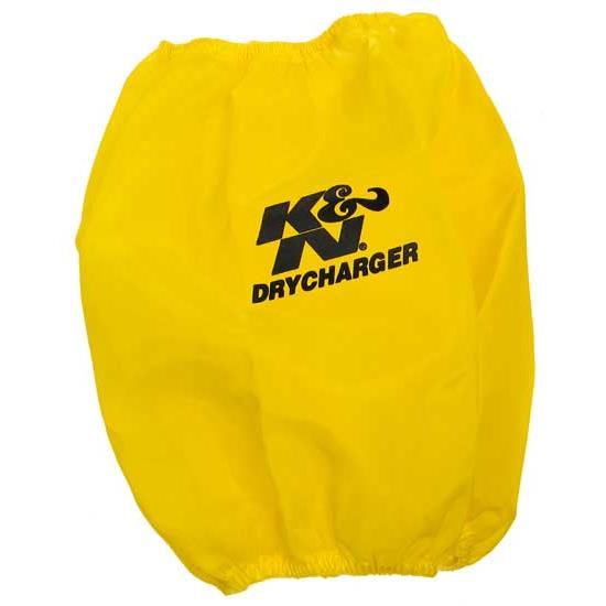 K&N RC-5102DY DryCharger Air Filter Wrap, 8.938in Tall, Yellow