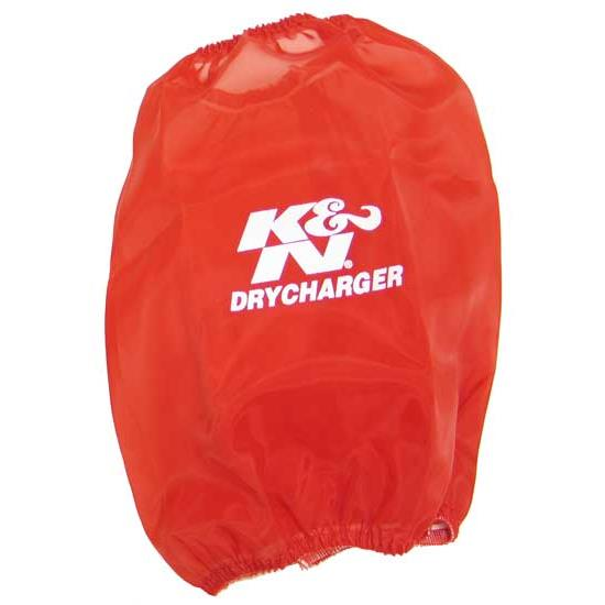 K&N RC-5106DR DryCharger Air Filter Wrap, 8in Tall, Red