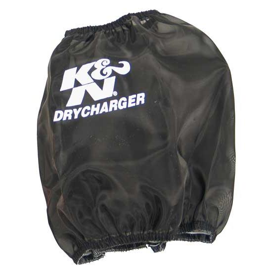 K&N RC-5107DK DryCharger Air Filter Wrap, 6.5in Tall, Black