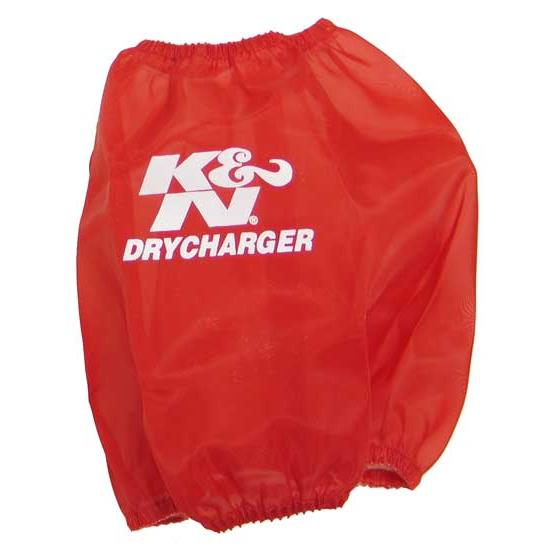 K&N RC-5107DR DryCharger Air Filter Wrap, 6.5in Tall, Red