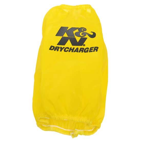 K&N RC-5107DY DryCharger Air Filter Wrap, 6.5in Tall, Yellow