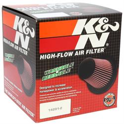 K&N RC-5107 Performance Air Filters, 6.5in Tall, Round Tapered