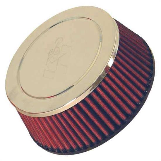 K&N RC-5116 Performance Air Filters, 2.563in Tall, Round Tapered