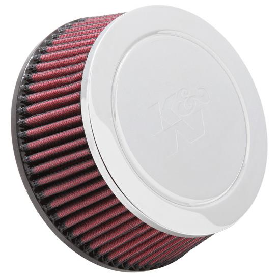 K&N RC-5124 Performance Air Filters, 2.563in Tall, Round Tapered