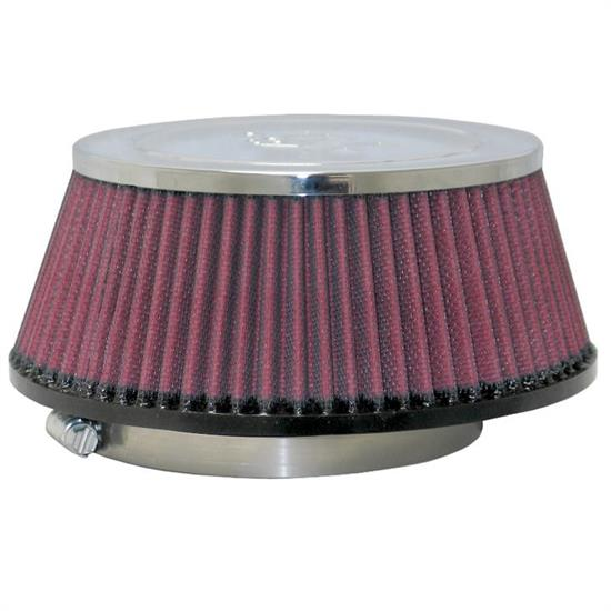 K&N RC-5151 Performance Air Filters, 3.656in Tall, Round Tapered