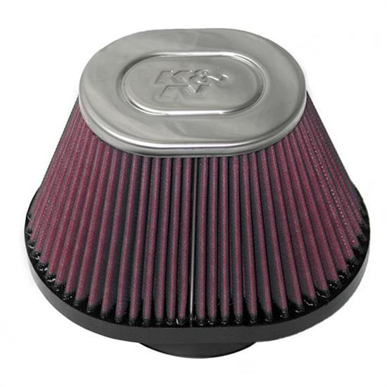 K&N RC-70002 Powersports Air Filter, 4.813in Tall, Oval Tapered