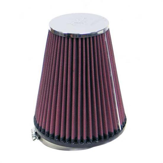 K&N RC-8480 Performance Air Filters, 6.75in Tall, Round Tapered