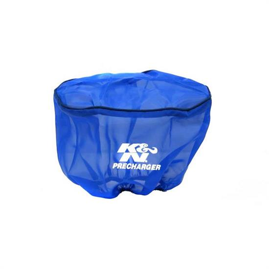 K&N RD-5000PL PreCharger Air Filter Wrap, 6.5in Tall, Blue