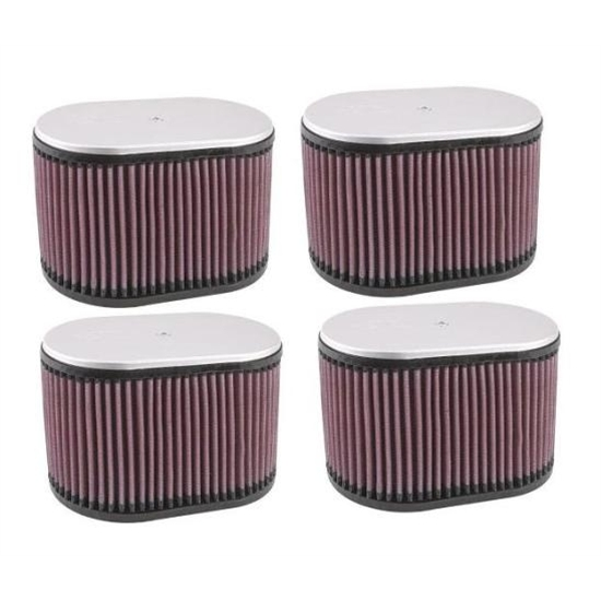 K&N Dual Injector Filters, 2-9/16 Inch, Set/4