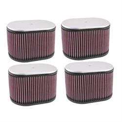 K&N Dual Injector Filters, 2-9/16 Inch, Set/4