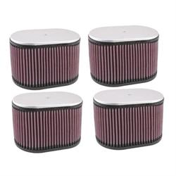 K&N Dual Injector Filters, 2-5/8 Inch, Set/4