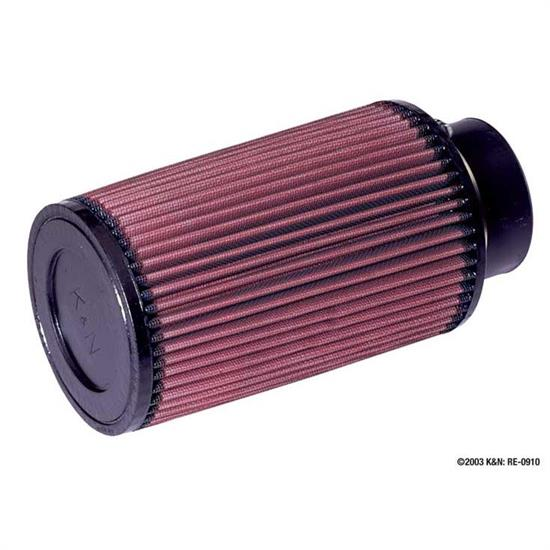 K&N RE-0910 Performance Air Filters, 8in Tall, Round Tapered