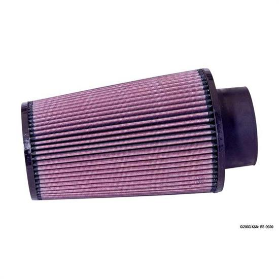 K&N RE-0920 Performance Air Filters, 9in Tall, Round Tapered