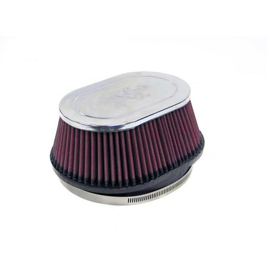 K&N RF-1002 Air Filter, 3.25in Tall, Oval Straight