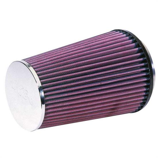 K&N RF-1008 Air Filter, 8.375in Tall, Round Tapered