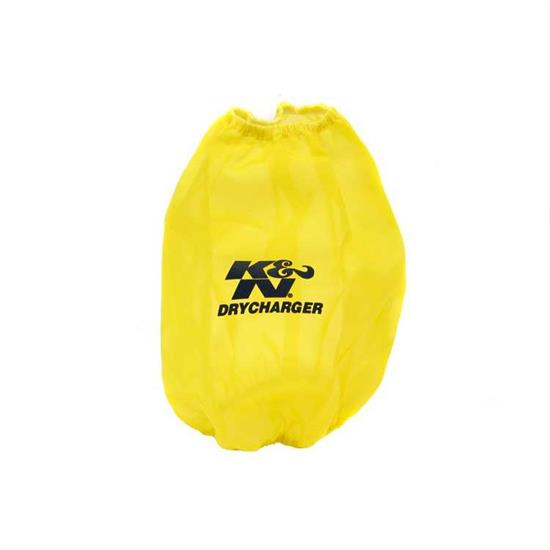 K&N RF-1012DY DryCharger Air Filter Wrap, 9in Tall, Yellow