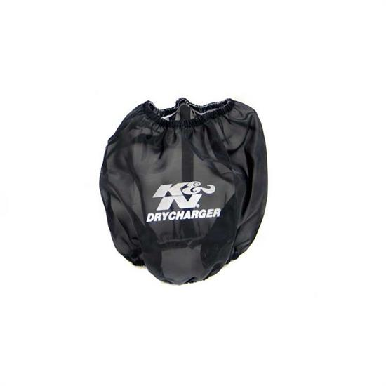 K&N RF-1014DK DryCharger Air Filter Wrap, 6.5in Tall, Black