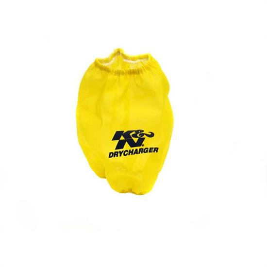 K&N RF-1015DY DryCharger Air Filter Wrap, 7in Tall, Yellow