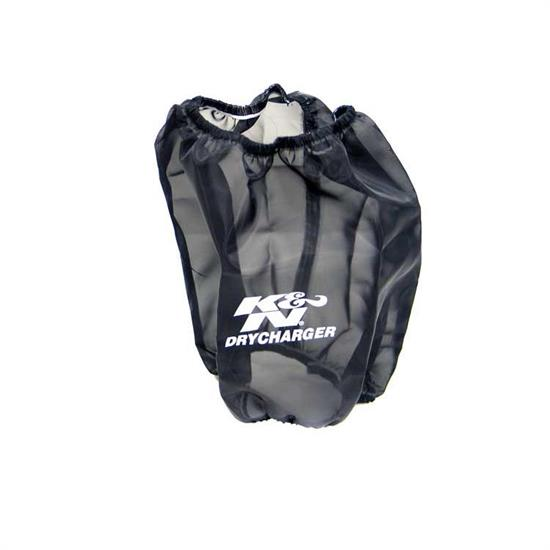 K&N RF-1017DK DryCharger Air Filter Wrap, 8in Tall, Black