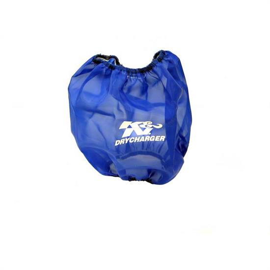 K&N RF-1017DL DryCharger Air Filter Wrap, 8in Tall, Blue