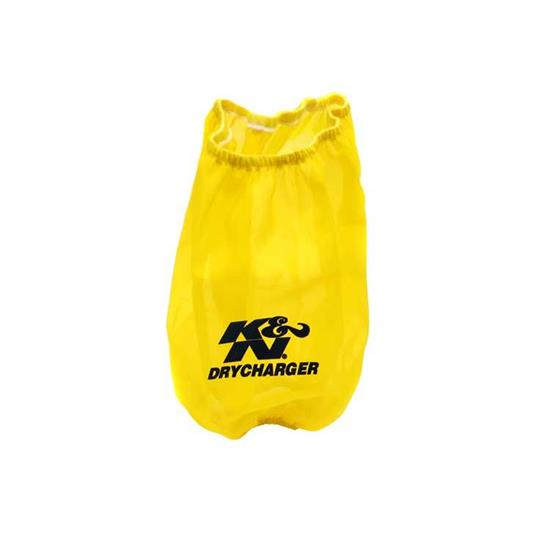 K&N RF-1017DY DryCharger Air Filter Wrap, 8in Tall, Yellow