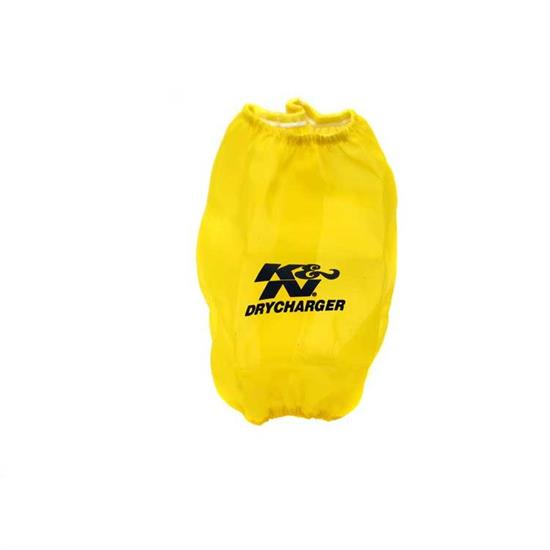 K&N RF-1020DY DryCharger Air Filter Wrap, 8.5in Tall, Yellow