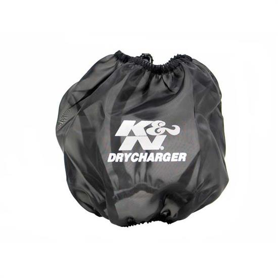 K&N RF-1024DK DryCharger Air Filter Wrap, 10in Tall, Black