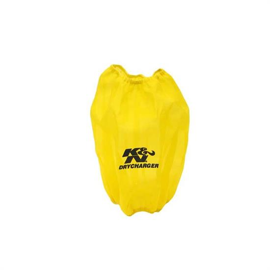 K&N RF-1024DY DryCharger Air Filter Wrap, 10in Tall, Yellow