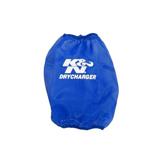 K&N RF-1026DL DryCharger Air Filter Wrap, 11in Tall, Blue